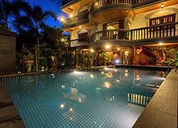 Swimming Pool Night View